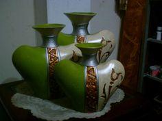 Glass Bottle Crafts, Bottle Art, Glass Bottles, Gourd Art, Clay Pots, Gourds, Creative Art, Interior Decorating, Arts And Crafts