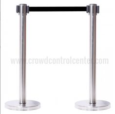 Online huge collections of VIP Version in Satin Stainless Steel Retractable Belt Stanchions and Crowd Control Portable Safety Barriers exclusive at CrowdControlCenter.