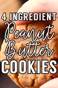 These flourless peanut butter cookies only take one bowl and are a breeze to whip up. Their ultra-rich flavor makes them perfect for peanut butter lovers! Homemade Peanut Butter Cookies, Classic Peanut Butter Cookies, Flourless Peanut Butter Cookies, Chewy Peanut Butter Cookies, Peanut Butter Recipes, Peanut Butter Cookie Recipe 3 Ingredient, Three Ingredient Cookies, Keto Cookies, Crinkle Cookies