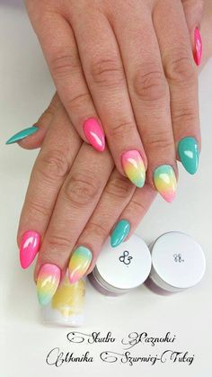by Monika Szurmiej Tutaj - Follow us on Pinterest. Find more inspiration at www.indigo-nails.com #nailart #nails #indigo #ombre