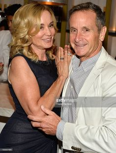 Actress Jessica Lange and Executive Producer Dante Di Loreto attend the Premiere Of FX's 'American Horror Story: Coven' after party at Fig & Olive Melrose Place on October 5, 2013 in West Hollywood, California.