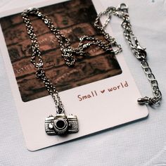 Camera Pendant Necklace, Vintage Camera Necklace, Photography Necklace, Photographer Necklace, Photographer Gift, Photography Jewelry N007. $6.00, via Etsy.
