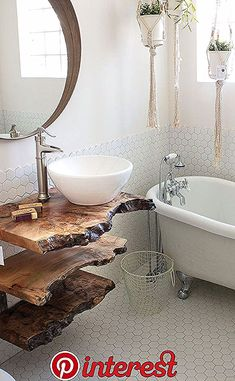 Bathroom Decor apartment Use the funky sassafras and some board - - Live Edge Furniture, Diy Furniture, Rustic Wood Furniture, Funky Bathroom, Zebra Bathroom, 1920s Bathroom, Paris Bathroom, Ocean Bathroom, Mermaid Bathroom