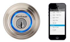 Sleutels zijn overbodig met de Kevo iPhone-Operated Lock | Want.nl