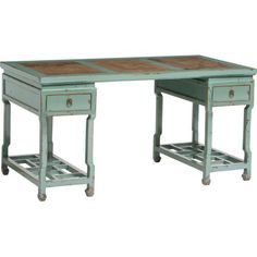 This is a great idea...two end tables with either draws or shelves would work well for storage...plus a table top (hardwood or plywood)