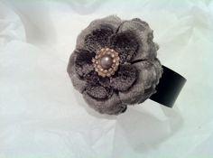 Bracelet Flower Gris et Noir