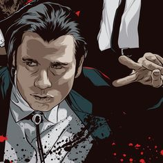 John Travolta - Pulp Fiction - Art by Mondo