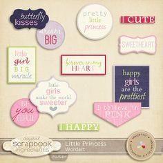 Little Princess Wordart :: Word Art & Titles :: Memory Scraps