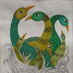 Seashell Painting, Madhubani Painting, Krishna Painting, Indian Art Paintings, Original Paintings, Easy Paintings, Fabric Painting, Watercolor Paintings, Art Drawings