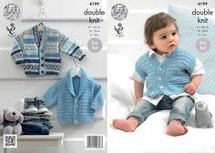 King Cole Baby Jackets & Waistcoat Cherish Knitting Pattern 4199  DK | Knitting | Patterns | Minerva Crafts