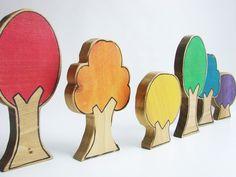 Rainbow Forest Blocks - Etsy.