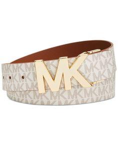 0d9cc26ab MICHAEL Michael Kors Reversible MK Signature Plaque Belt & Reviews -  Handbags & Accessories - Macy's