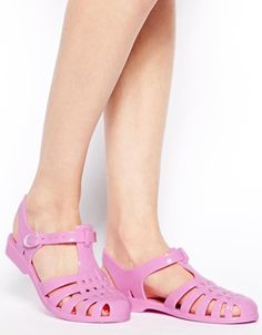 FUNKY Pink Gladiator Jelly Shoes