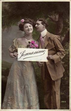 Влюбленные пары. Старинные фото и открытки.