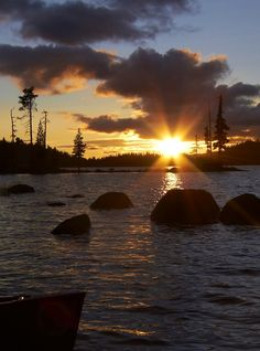 Waldo Lake sunset, Oregon