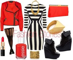 """""""Stripes"""" by jasmine-cooper on Polyvore"""