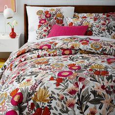 Brushstroke Floral Duvet Cover + Shams | west elm