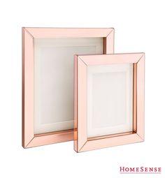 Rose gold metallic frames are super fab! // Les cadres de ton or rose sont super tendance! #HomeSenseStyle