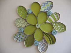Wall flower art / Upcycled Toilet Paper Rolls / by RutiLine, $25.00