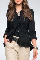 Boo Radley Jersey Ruffle Cardigan - Womens Cardigans - Birdsnest Online Clothing Store