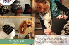 ATOURS DE TÊTES chapeaux pour toutes les têtes et autres coqueteries de cheveux, des créations originales et personnalisées. Toutes saisons, toutes occasions... - Véronique Schneider, modiste vous invite à venir découvrir ses créations dans son atelier boutique, situé à Vauréal à quelques minutes de Cergy- Pontoise. Cour des arts - 8, rue nationale 95490 Vauréal-village - 06.15.48.03.74
