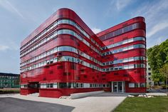 Built by FAAB in Raciborz, Poland with date 2013. Images by Bartłomiej Senkowski. Investment divided into three phases, including (1) construction of the new Regional Blood Center building, (2) shelt...