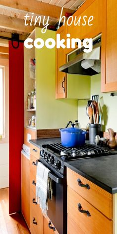 #tinyhouse #cooking isn't so different than in any other kitchen. Find out more!