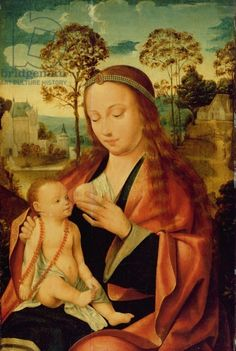 Mary with the Christ Child, early 16th century (oil on panel)
