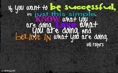 Love what you do to be successful quote via www.Venspired.com and www.Facebook.com/Venspired