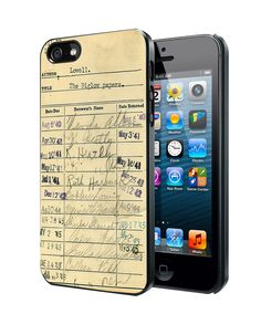 Library Due Card Vintage iPhone 4 4S 5 5S 5C Case