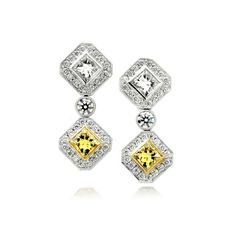 Magnificent Yellow Diamond Earrings // J.M. Edwards Jewelry // Cary, NC