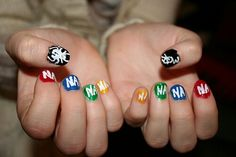 My Chemical Romance nailart Mcr Memes, Emo Meme, Hair And Nails, My Nails, Band Nails, Emo Bands, Nailart, My Chemical Romance, Simple Nails