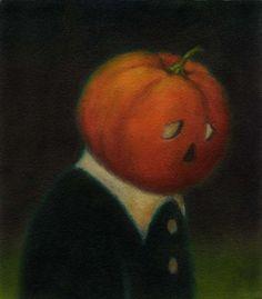 Pumpkin Man Halloween Portrait 3 by CuriousPortraits on Etsy, $20.00