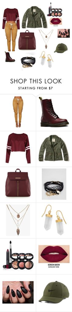 """""""simply Q 2"""" by quinta-robinson ❤ liked on Polyvore featuring Dr. Martens, Hollister Co., Red Herring, ASOS, BillyTheTree, Laura Geller, Smashbox and NIKE"""
