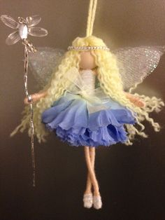 Tu Tu fairy by Lulatuesdays on Etsy Doll Crafts, Diy Doll, Fairy Tale Crafts, Felt Fairy, Fairy Clothes, Fairy Figurines, Clothespin Dolls, Christmas Fairy, Flower Fairies