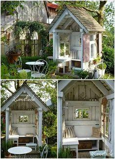 ♥♥♥♥ – Garten – - Garden Shed Backyard Sheds, Backyard Landscaping, Garden Sheds, Garden Cottage, Home And Garden, Diy Garden, Garden Path, Garden Projects, Garden Crafts