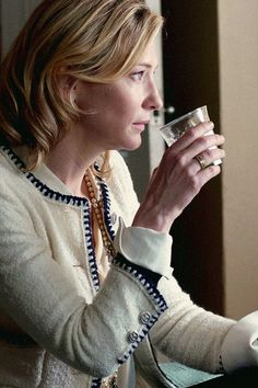Cate Blanchett in Blue Jasmine ... OBSESSED with her custom Chanel jacket. Obsessed.