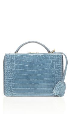 3ce6f142eb33f Mark Cross Grace Small Top Handle Trunk in Blue Crocodile at Moda Operandi  Best Handbags