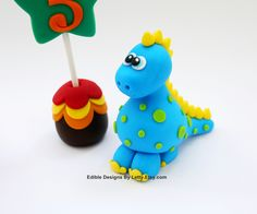 Edible Fondant Dinosaur Cake Topper By Edibledesignsbyletty