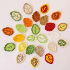 Leaves Applique MIX From Cotton Yarn- Crochet Leaves Supplies For Clothing, Hair Clips, Handbags 25pcs