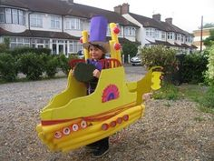 Yellow submarine fancy dress for book day