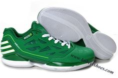 detailed look 46b71 04da7 Adidas AdiZero Rose Dominate Low Derrick Rose Shoes Green White Adidas- basketball-schuhe,