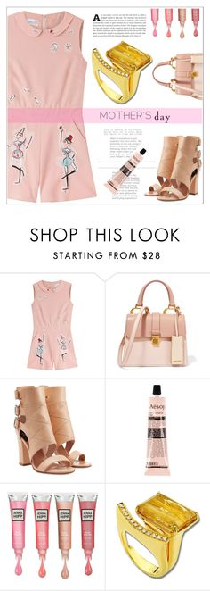 """""""Anastazio-For beautiful and chic mothers!"""" by anastazio-kotsopoulos ❤ liked on Polyvore featuring RED Valentino, Miu Miu, Laurence Dacade, Aesop and Anastazio"""