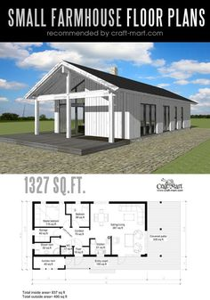Designing and building a modern Farmhouse farmhouse can be a lot of fun! Look at the best small farmhouse plans that can fit almost any tight budget. Learn how you can design the best modern farmhouse and decorate it as a pro! Farmhouse Architecture, Modern Farmhouse Interiors, Modern Farmhouse Design, Vintage Farmhouse, Rustic Modern, Modern Design, Layout Design, Design Ideas, Small Farmhouse Plans