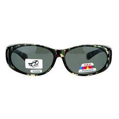 f1c93c4112 Camo Print Anti Glare Polarized Fitover Sunglasses - Transparent Green -  CC126EFZ2OF-Men s Sunglasses