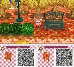 For future reference. I have Sakura blossoms in my town for summer right now and these will be absolutely adorable for fall~ For future reference. I have Sakura blossoms in my town for summer right now and these will be absolutely adorable for fall~ Acnl Halloween, Theme Halloween, Qr Code Animal Crossing, Animal Crossing Qr Codes Clothes, Acnl Pfade, Acnl Qr Code Sol, Unalome, Narnia, Cherry Blossom Drawing