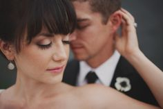Chalk Inspired Wedding Shoot - Pretty My Party - love the eye makeup