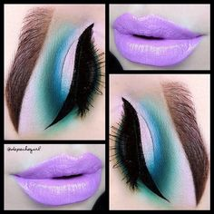 "depechegurl  Lips - @five11_cosmetics ""Kiana"" Lipstick. @nyxcosmetics Milk Jumbo Pencil as a base on the eye. @sugarpill Sparkle Baby Palette & ""Mochi"" Eyeshadow, and @sophisticatcosmetics Eyeshadows. All @kizmet brushes used"
