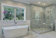 """""""View this Great Contemporary Master Bathroom with frameless showerdoor & Wainscoting by Seana Yates. Discover & browse thousands of other home design ideas on Zillow Digs."""""""