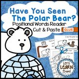 Polar Bears Emergent Reader, Positional Words Cut and Paste, Polar Animals Winter Fun, Winter Theme, Winter Activities, Preschool Activities, Polar Animals, Bear Theme, Emergent Readers, Cut And Paste, Cool Pets